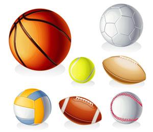 sport equipment balls