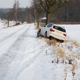 SUV-in-ditch