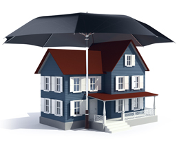 umbrella over house