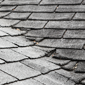 Old composite roof