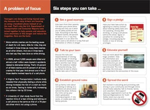 Distracted Driving Brochure