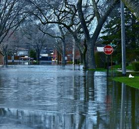 neighborhood flooded