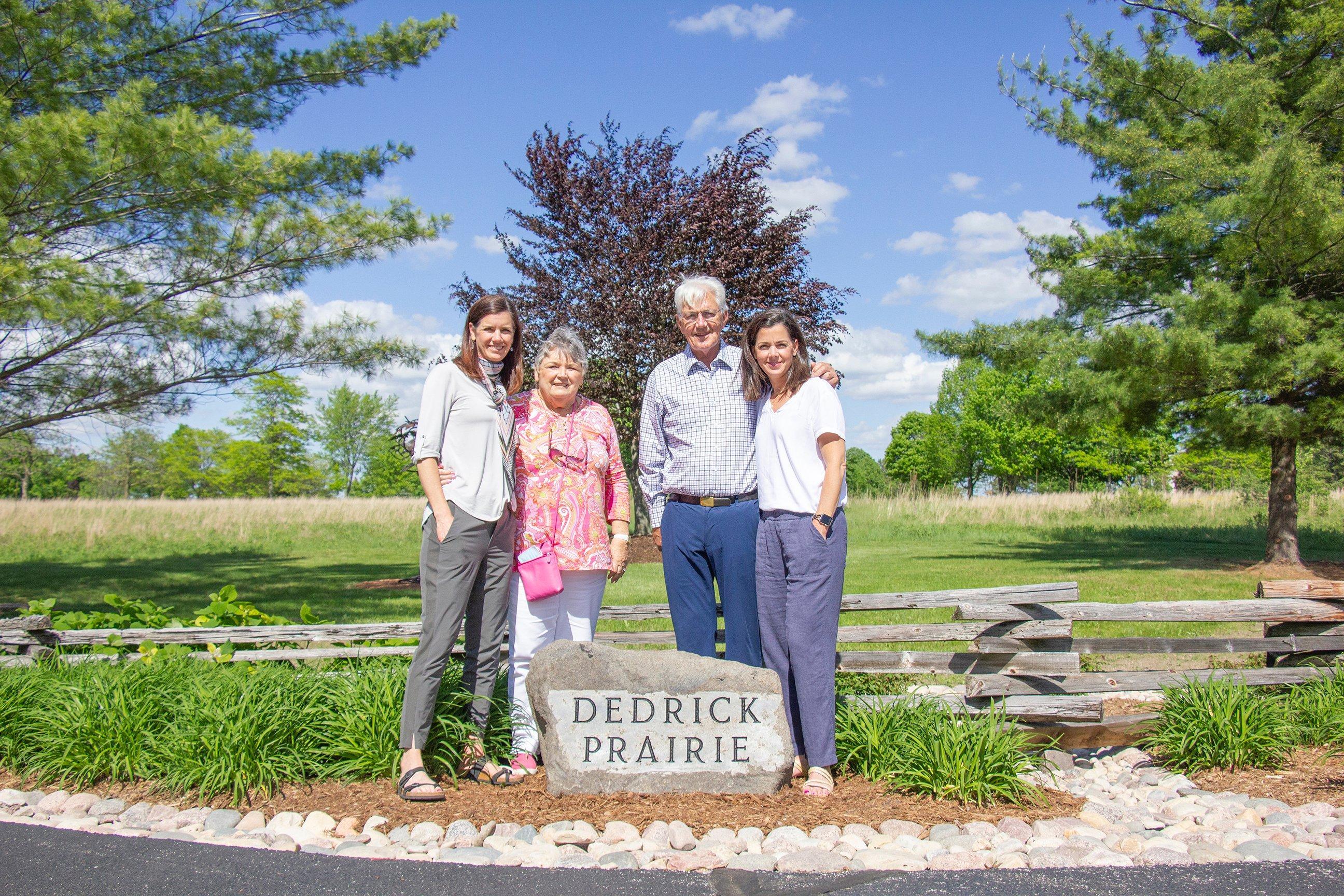 Dedrick family by Rock Plaque