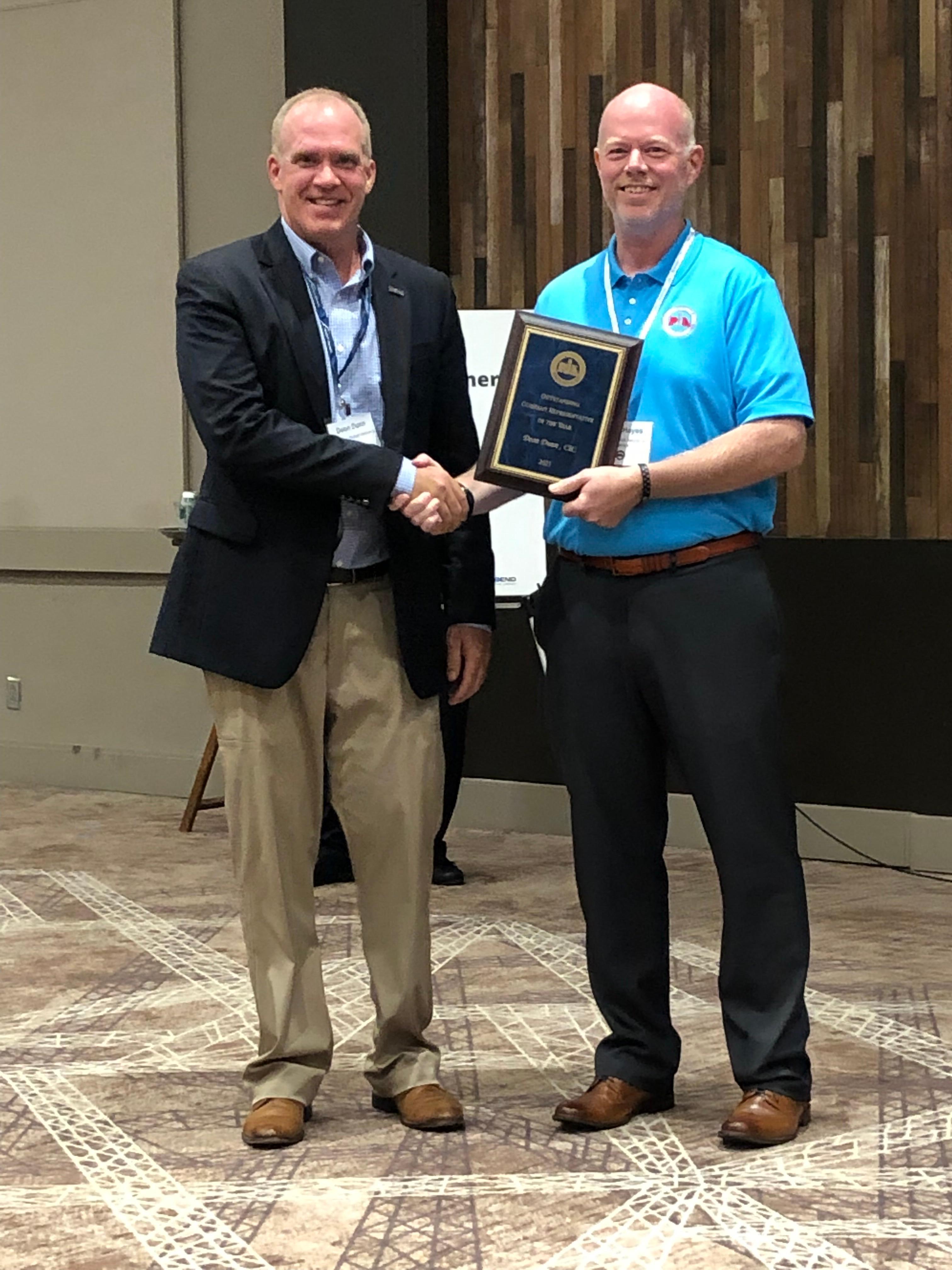 Deon Dunn NC PIA award