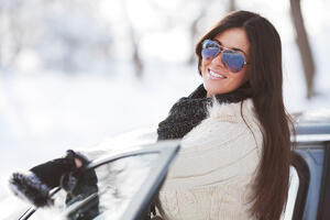 Teen winter driving school