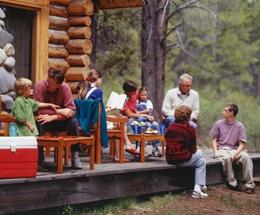 family-at-log-cabin