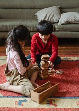 kids playing alone