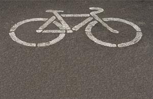 bike-symbol-on-pavement