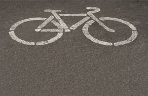 bike-symbol-on-pavement